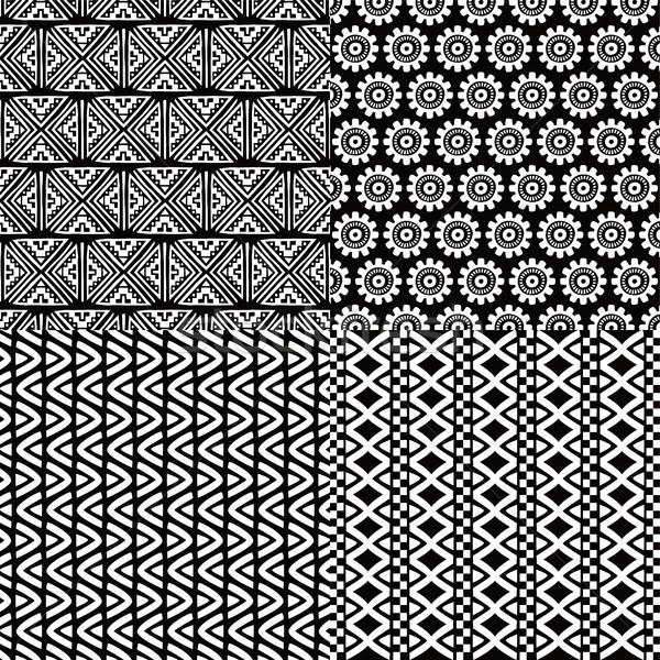 Stock fotó: őslakos · kisebbségi · végtelen · minta · vektor · művészet · illusztráció