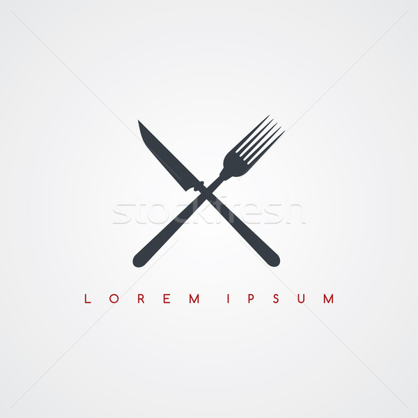 restaurant theme icon sign logotype Stock photo © vector1st