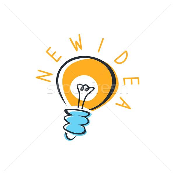 Ampoule idée vecteur art illustration fond Photo stock © vector1st