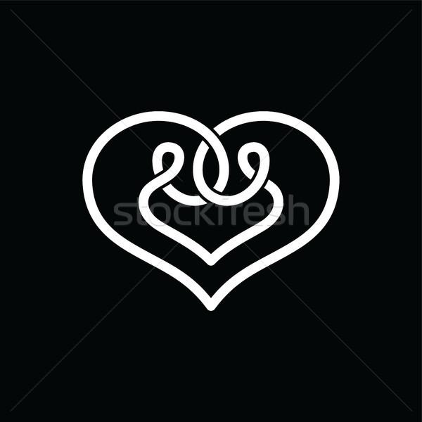 heart shape celtic overlapped concept logo Stock photo © vector1st