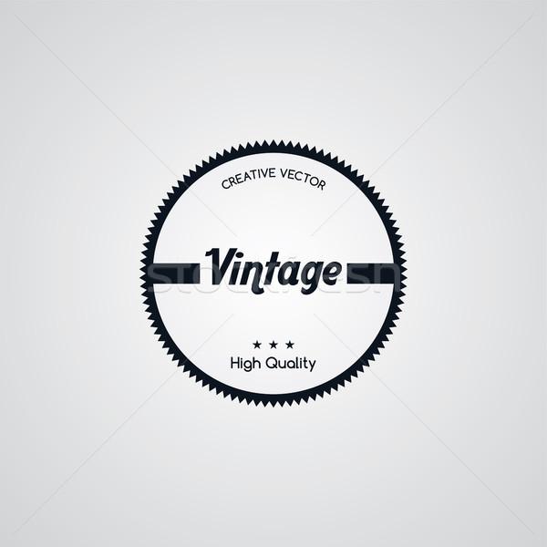 оригинальный премия Label ретро Знак эмблема Сток-фото © vector1st