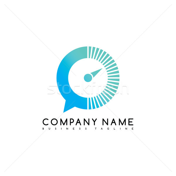 speed chat exclusive brand company template logo logotype vector art Stock photo © vector1st