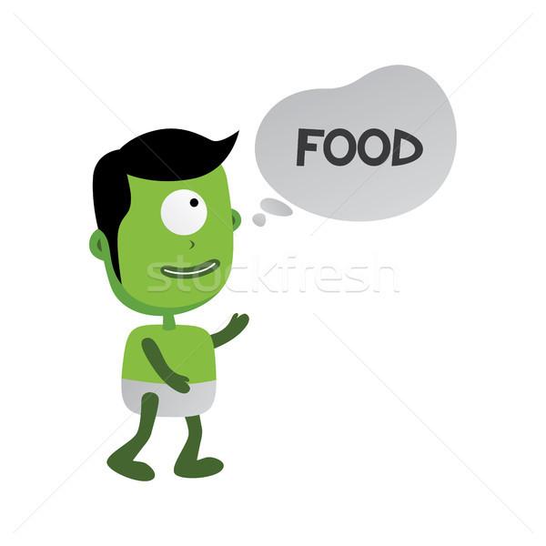 Zielone zombie potwora charakter wektora sztuki Zdjęcia stock © vector1st