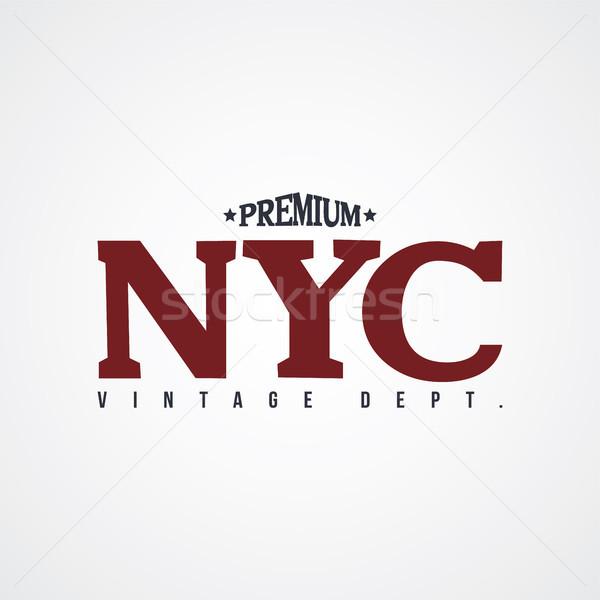 new york united states of america varsity Stock photo © vector1st