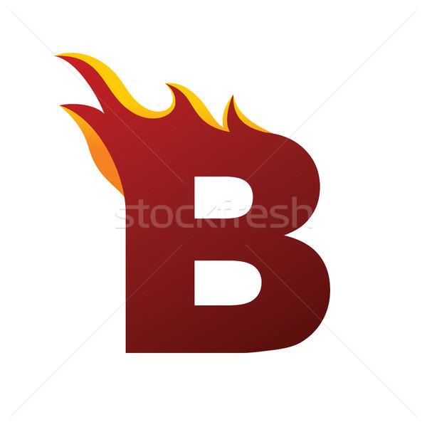 火災 手紙 アルファベット ベクトル ストックフォト © vector1st
