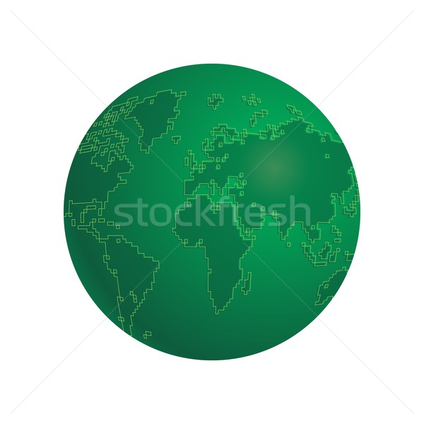 world map Stock photo © vector1st