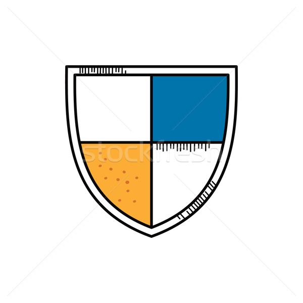 Desenho animado escudo rabisco papel textura Foto stock © vector1st
