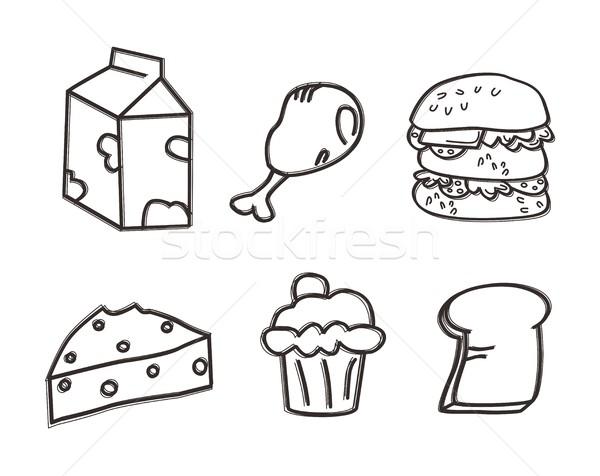 étel ital művészet vektor grafikus terv Stock fotó © vector1st