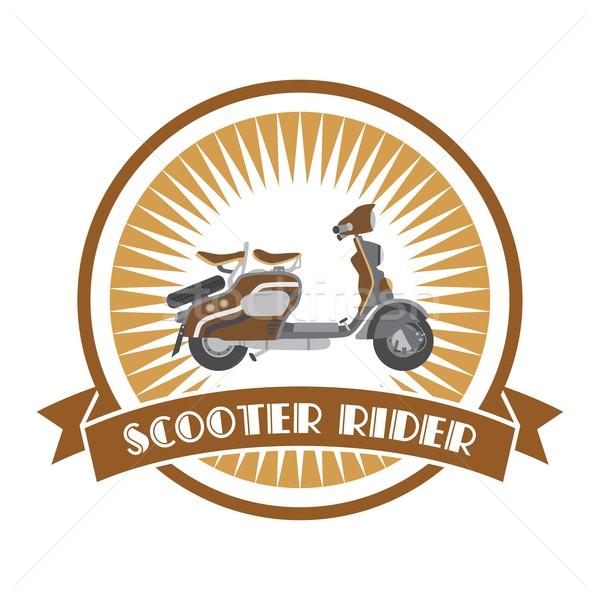 motorcycle theme art Stock photo © vector1st
