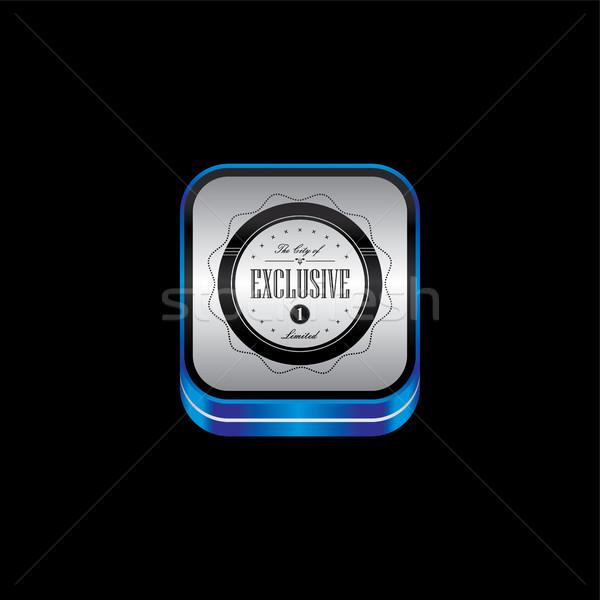 Foto stock: Metal · prato · produto · qualidade · distintivo · etiqueta