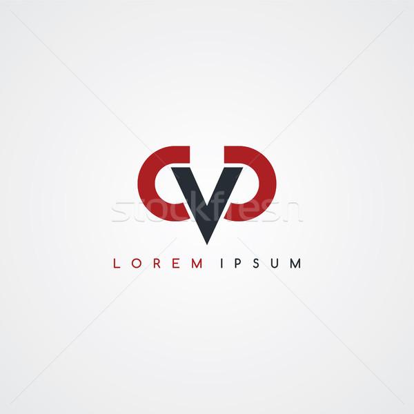 письме логотип черный красный белый веб Сток-фото © vector1st