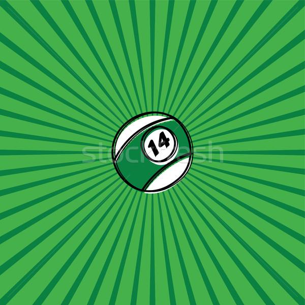 бильярдных мяча эскиз болван вектора искусства Сток-фото © vector1st
