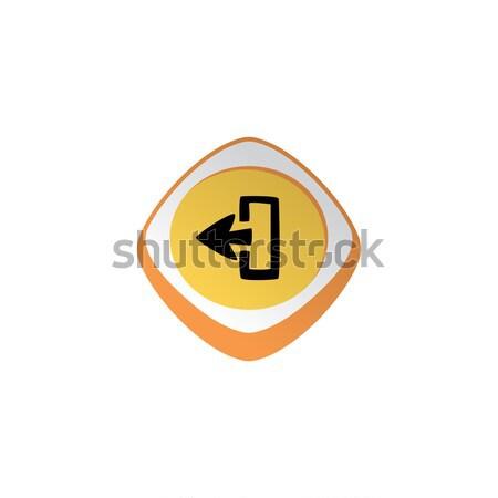Macht wechseln glänzend Farbe App Symbol Stock foto © vector1st