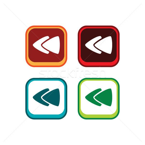 Cor aplicativo ícone botão jogo ativo Foto stock © vector1st