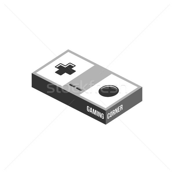 Video oyunu joystick konsol logo şablon vektör Stok fotoğraf © vector1st