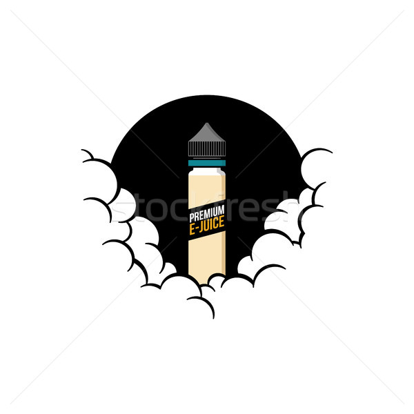 cloudy theme personal vaporizer vape e-cigarette Stock photo © vector1st