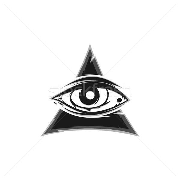 all seeing eye sign symbol vector Stock photo © vector1st
