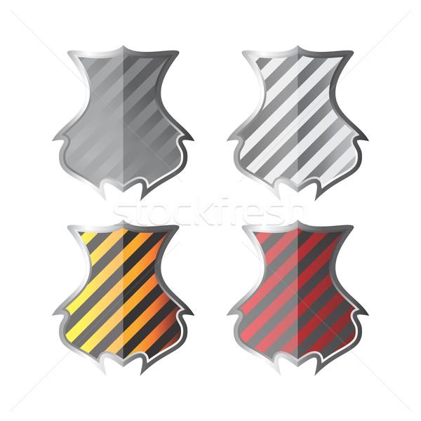 щит искусства иллюстрация вектора графических дизайна Сток-фото © vector1st