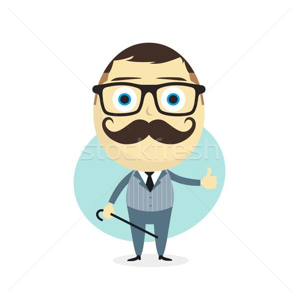 Cavalheiro vetor arte ilustração homem Foto stock © vector1st