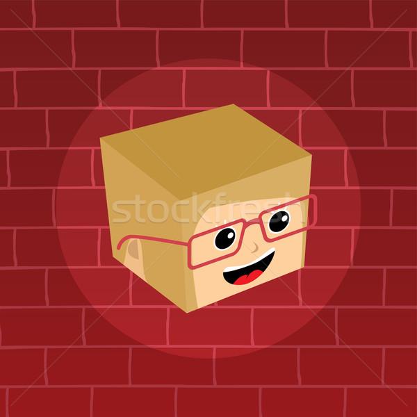 Homme isométrique cartoon tête fille oeil Photo stock © vector1st