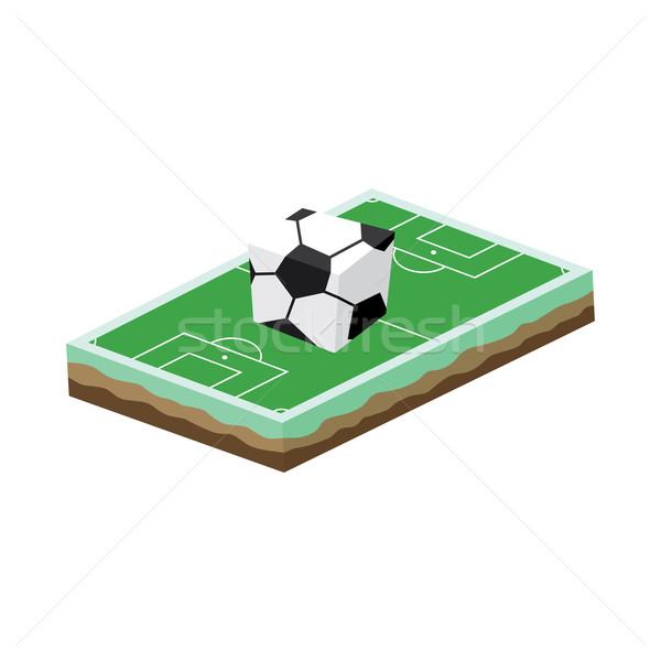 Cartoon футбольное поле изометрический вектора искусства иллюстрация Сток-фото © vector1st
