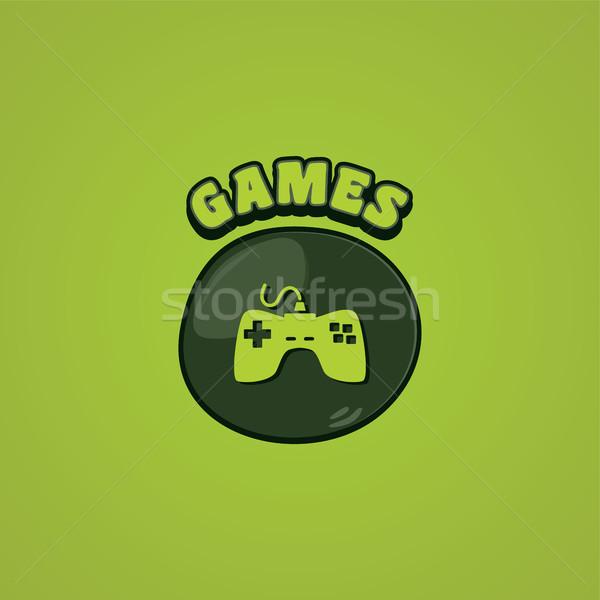 ゲーム コンソール ジョイスティック ベクトル 芸術 実例 ストックフォト © vector1st