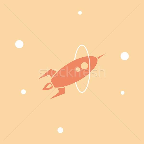 Espaço foguete vetor arte ilustração assinar Foto stock © vector1st