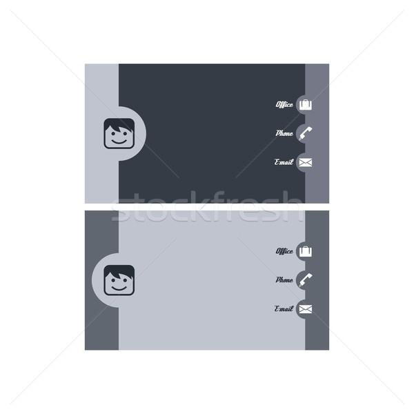 Modern névjegy vektor művészet grafikus illusztráció Stock fotó © vector1st