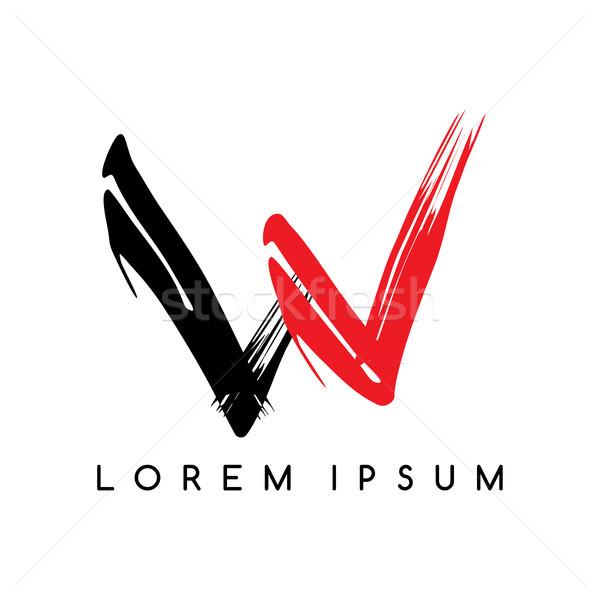 Levél logotípus szín logo sablon vektor Stock fotó © vector1st