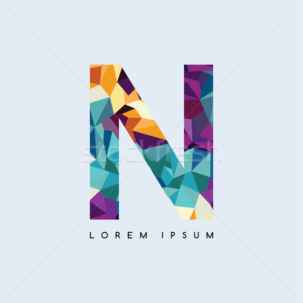 letter logotype logo abstract colorful triangle geometrical Stock photo © vector1st