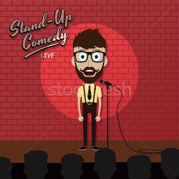 Adulto maschio stand up comico Foto d'archivio © vector1st