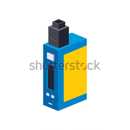 isometric block electric cigarette personal vaporizer mod Stock photo © vector1st