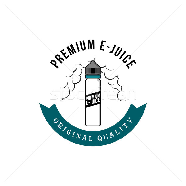 personal vaporizer e-cigarette e-juice liquid label badge Stock photo © vector1st