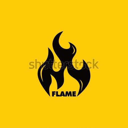 Chaud feu vecteur graphique art illustration Photo stock © vector1st