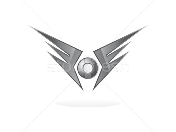 Stockfoto: Vleugel · kunst · vector · grafische · ontwerp · illustratie