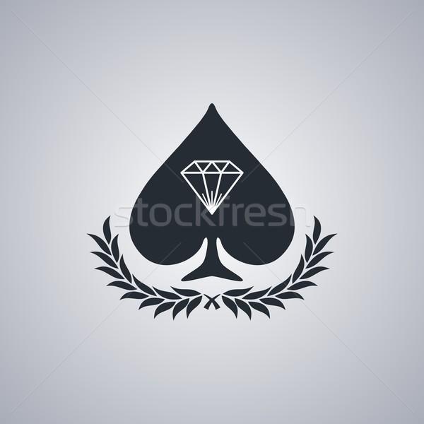 Diament kamień szlachetny cenny wektora sztuki ilustracja Zdjęcia stock © vector1st