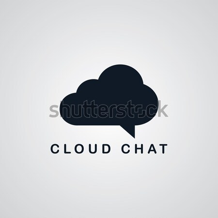 chat cloud theme Stock photo © vector1st