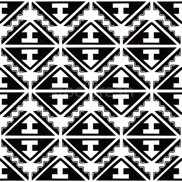 őslakos kisebbségi végtelen minta vektor művészet illusztráció Stock fotó © vector1st