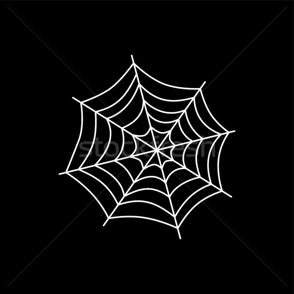 Pókháló művészet vektor illusztráció terv hálózat Stock fotó © vector1st