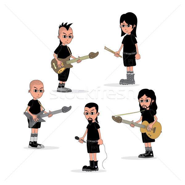 male cartoon character music band theme Stock photo © vector1st