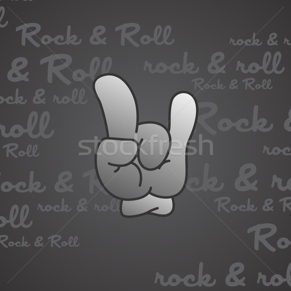rock and roll theme hand gesture Stock photo © vector1st