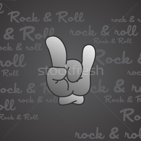 Rock rollen vector kunst illustratie Stockfoto © vector1st