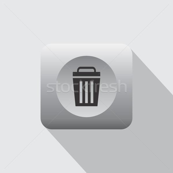 Geri dönüşüm çöp ikon vektör sanat Stok fotoğraf © vector1st