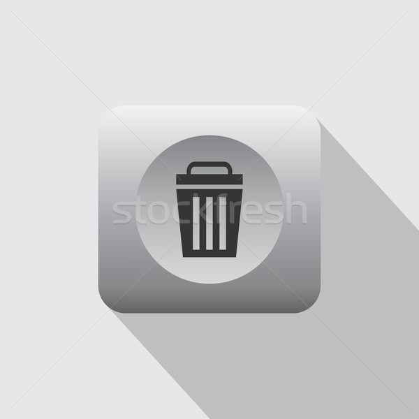 recycle trash bin icon Stock photo © vector1st