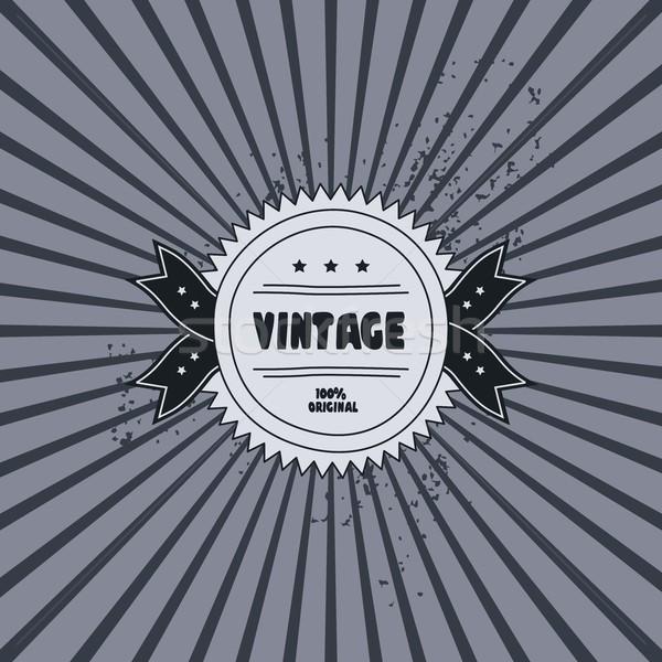 Retro címke sablon grafikus művészet absztrakt Stock fotó © vector1st