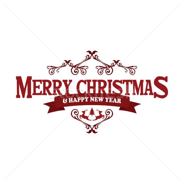 Joyeux Noël happy new year vecteur art signe Photo stock © vector1st