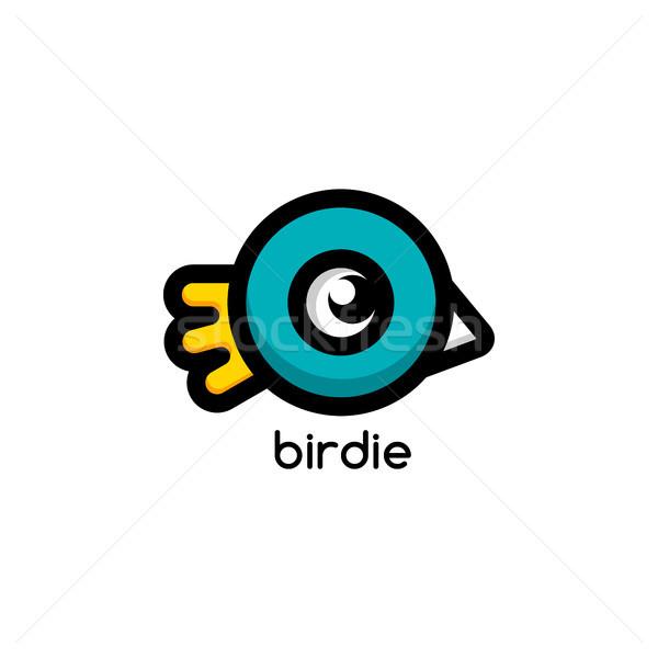 Küçük kuş kimlik logo şablon vektör Stok fotoğraf © vector1st