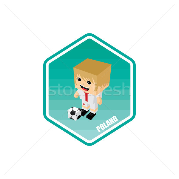 Futebol isométrica Polônia vetor arte desenho animado Foto stock © vector1st
