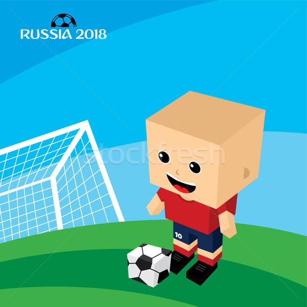 Gruppe Team Russland Fußballturnier Vektor Kunst Stock foto © vector1st