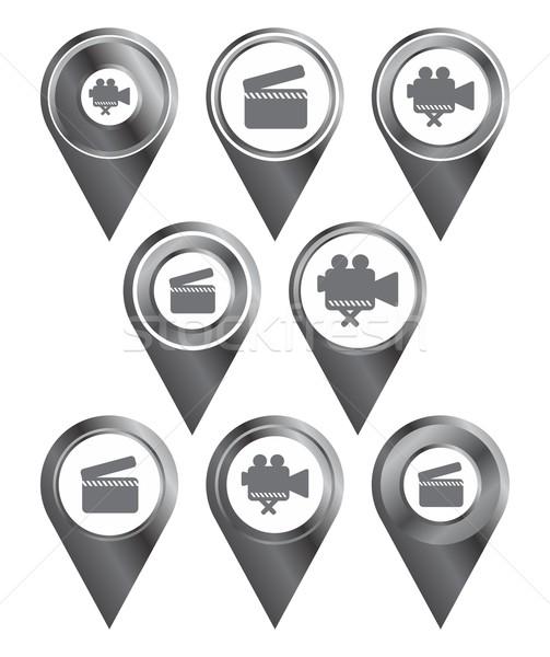 Mapa icono vector gráfico arte diseno Foto stock © vector1st